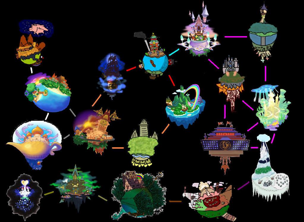 Kingdom Hearts 3 Map (PREDICTION) by Pookasora on DeviantArt