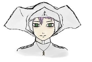 Aquitania Nun Concept Sketch by Fulcrox
