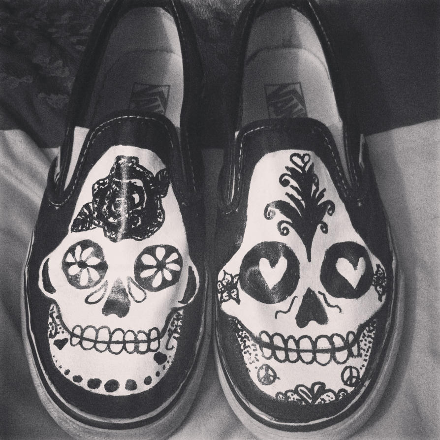 Dia de las Muertos Vans Shoes by taylrrrrrrr