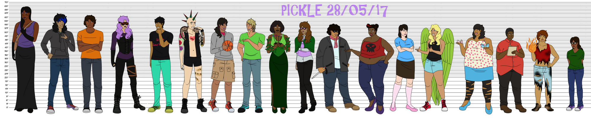 OC Height Chart 2017 by PicklePieCow
