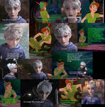 Jack Frost and Peter Pan fight