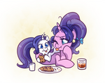 Cookie Crumbles and lil Rarity by JumbleHorse