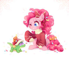 Pinkie and Gummy by JumbleHorse