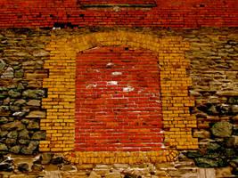 old brick building wall by owlbird