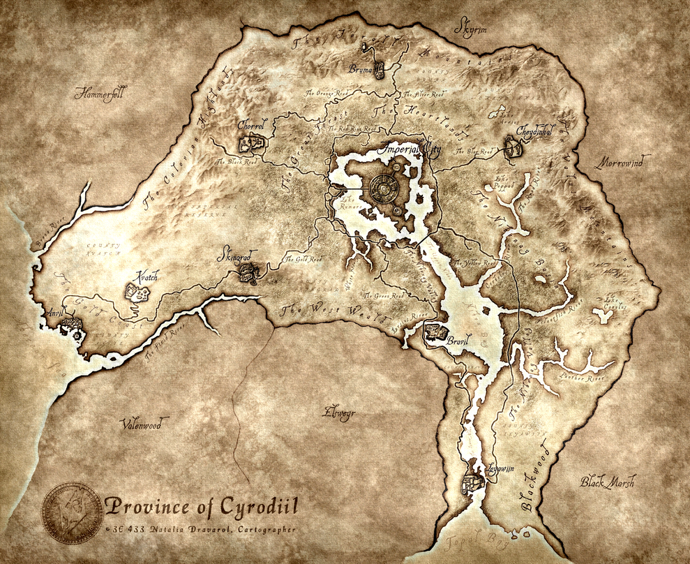 Cyrodiil Map World Maps For Kids