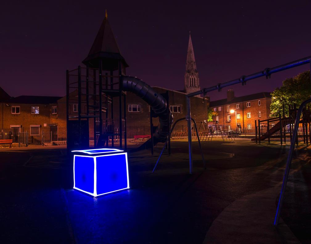 Blue Cube by Simili84
