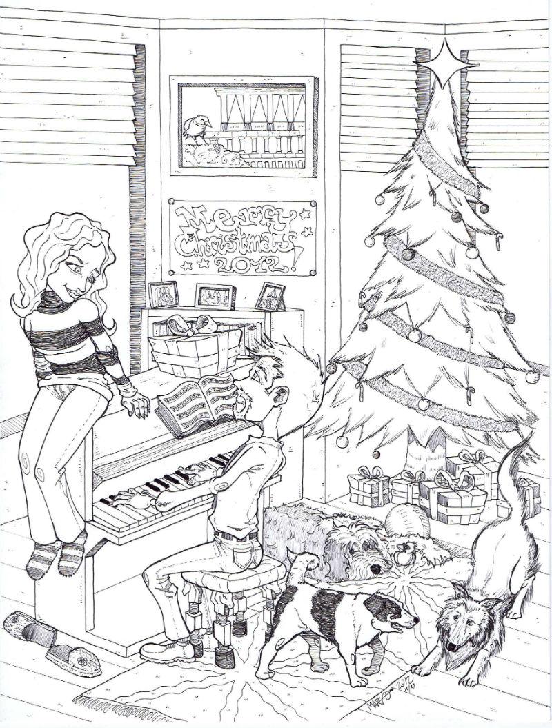 Happy holidays by mariodae on deviantart - Dibujos de navidad originales ...