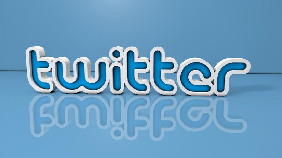 Twitter 3D Text by DifferentKev