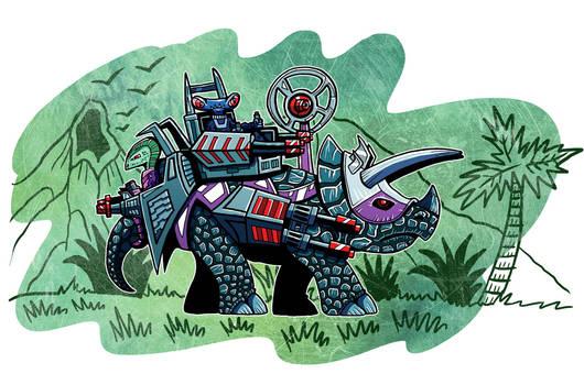 Dino Rider Triceratops
