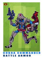 G. I. Joe Fan Art: Battle Armor Cobra Commander by ehudsbloodysword