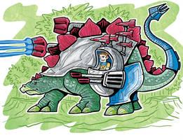 Dino-Rider Stegosaurus by ehudsbloodysword