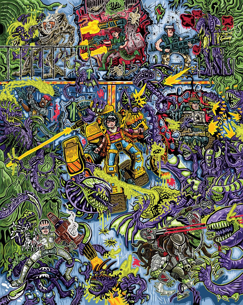 Kenner's 90's Alien Toy Line Poster by ehudsbloodysword