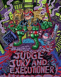 Judge Dredd poster by ehudsbloodysword