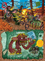 Mashup poster: Rancor, Predator, Rambo, Gizmo by ehudsbloodysword