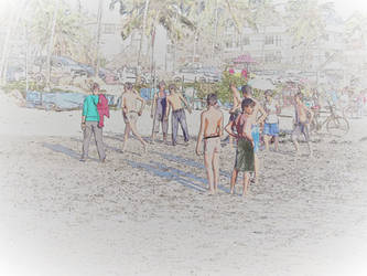 game on the beach by FotobyVarvar