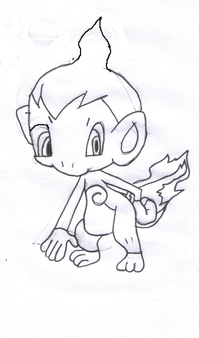 chimchar coloring pages - chimchar by v8engine on deviantart