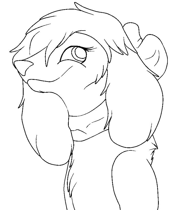 Line Art Dog : Female dog lineart by fallenfirefox on deviantart
