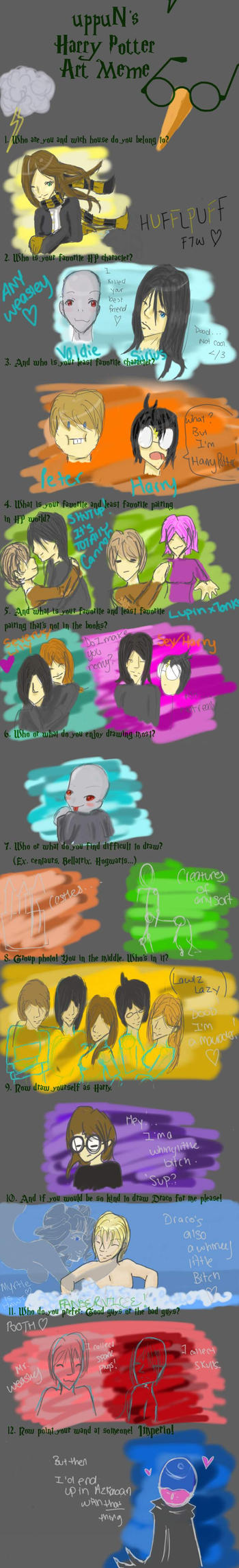 uppuN's HP art Meme by OneofFive