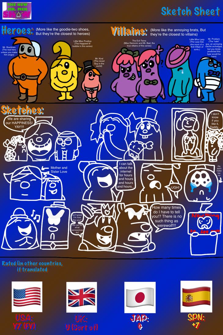 The New Mr. Men Show - Idea Sheet by Seadragirl12