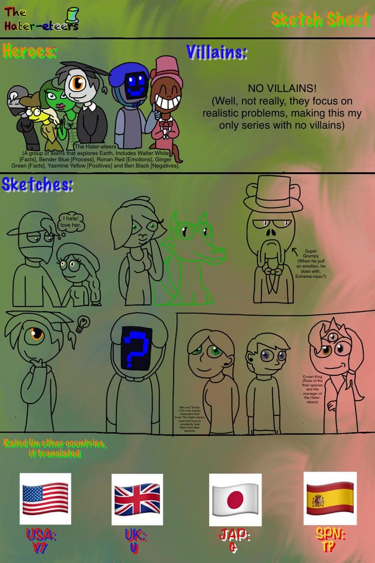 The Hater-eteers - Idea Sheet by Seadragirl12