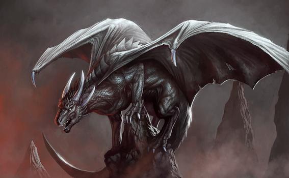 Black dragon (Commission for Vandetta Primus)