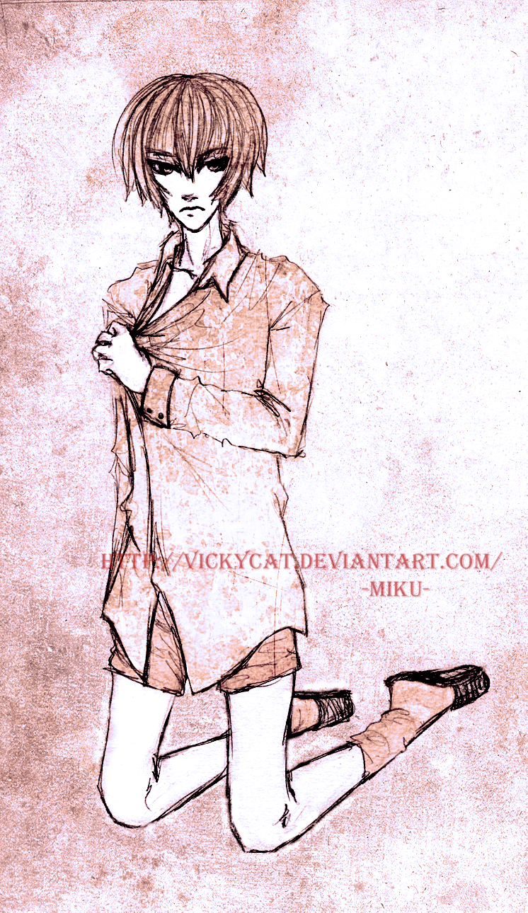 The boy with no pants by Vickycat