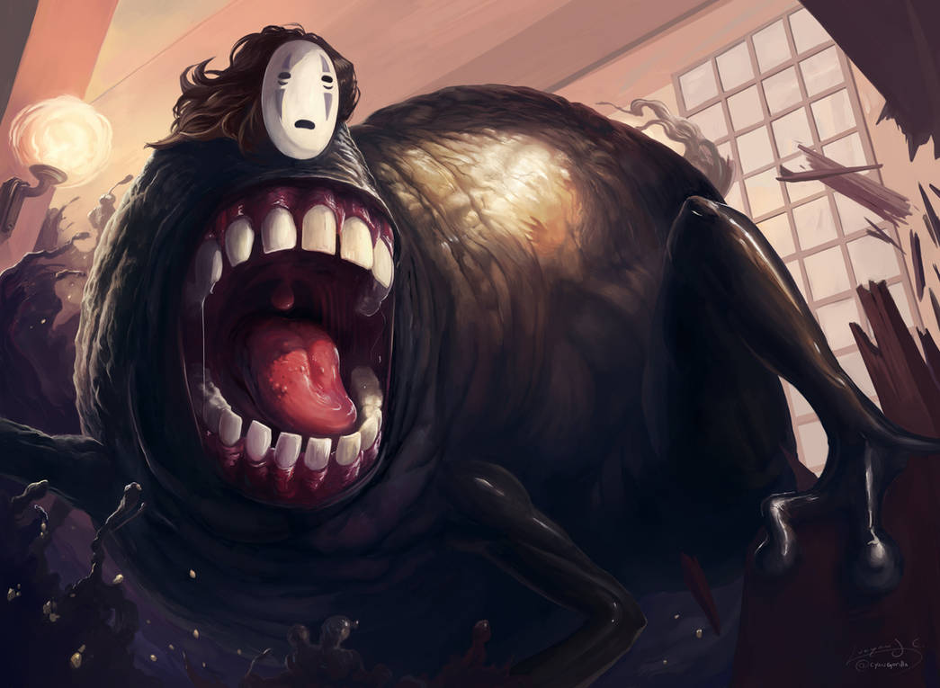 Spirited Away No Face By Cyangorilla On Deviantart