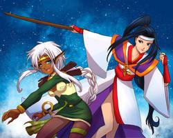 Aisha + Suzuka by katizua