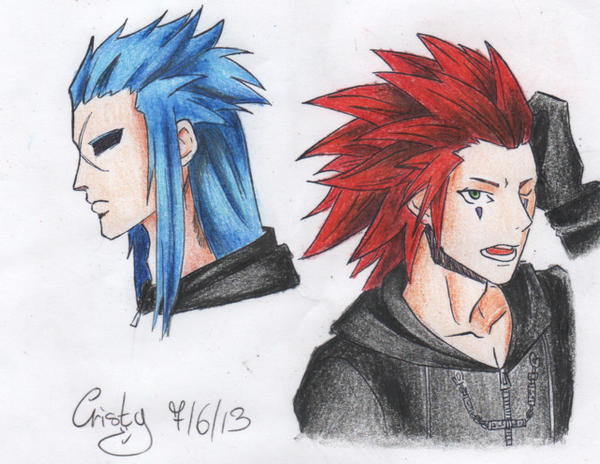 Axel and Saix by Kris1997