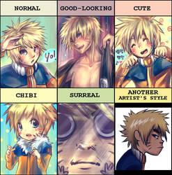 PIXIV Style Meme: Naruto (II) by Payoki