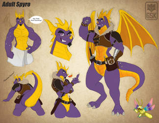 Adult Spyro Reference Sheet by 6SpiritKings