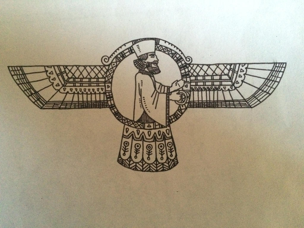 A symbol of Zoroaster by sooboy
