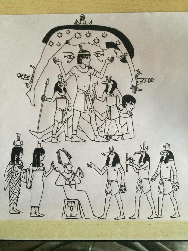 Egyptian myth by sooboy
