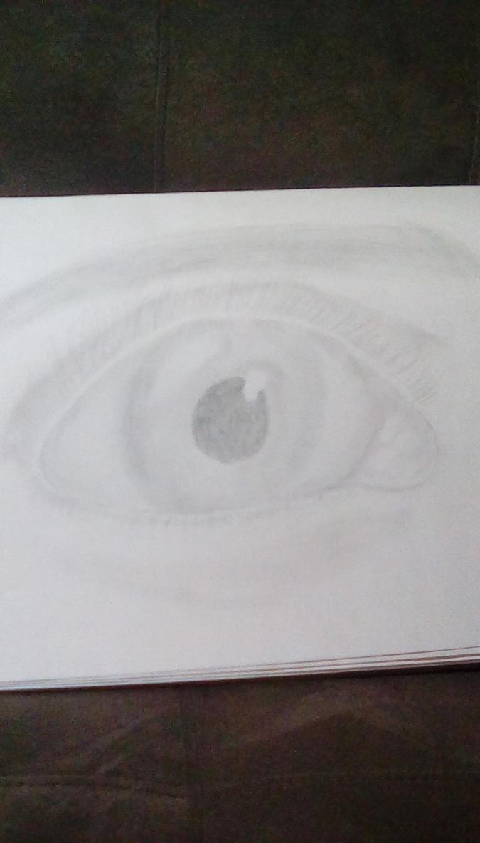 realistic eye  by KinseyA