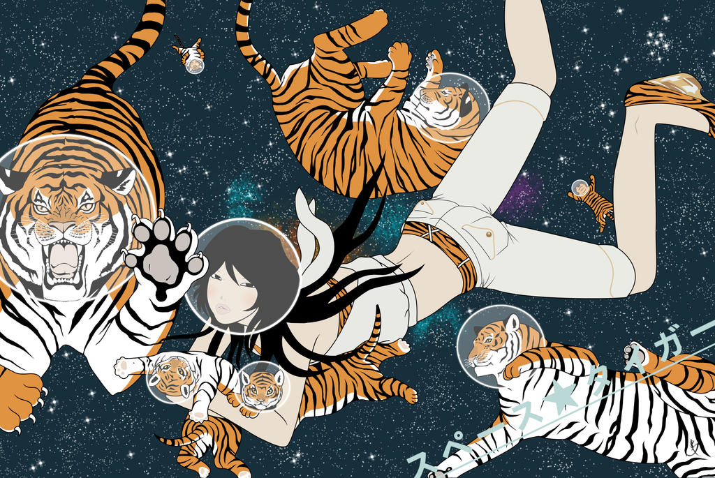Space tiger by yumiko kayukawa wallpaper by lazydynamite on deviantart space tiger by yumiko kayukawa wallpaper by lazydynamite thecheapjerseys Gallery