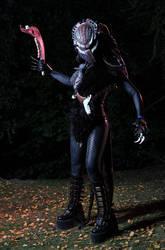 Predatory lady in black 3