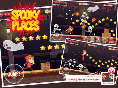 Spooky Places Game Assets by mikailain