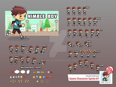 Game Character Sprite 07 by mikailain