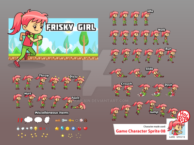 Game Character Sprite 08 by mikailain