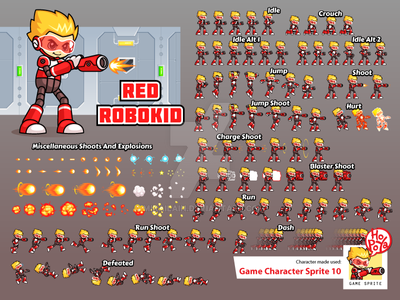 Game Character Sprite 10 by mikailain