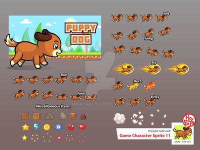 Game Character Sprite 11 by mikailain