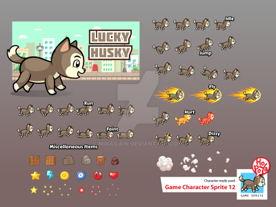 Game Character Sprite 12 by mikailain