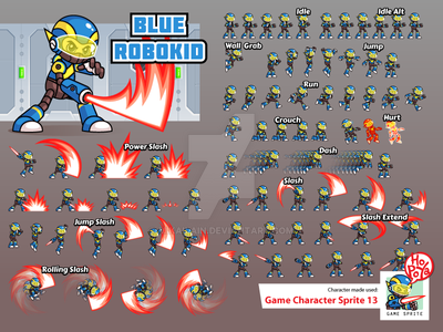 Game Character Sprite 13 by mikailain