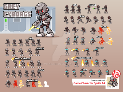 Game Character Sprite 14 by mikailain