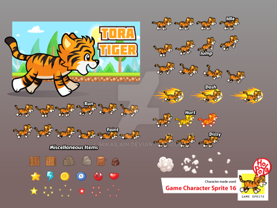 Game Character Sprite 16 by mikailain