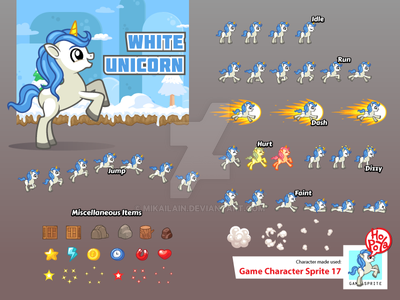 Game Character Sprite 17 by mikailain