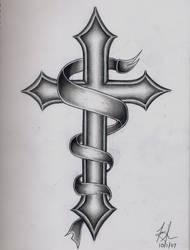 Cross Tattoo by DirtyD41