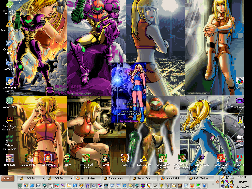 Samus Aran desktop by SailorVFan10