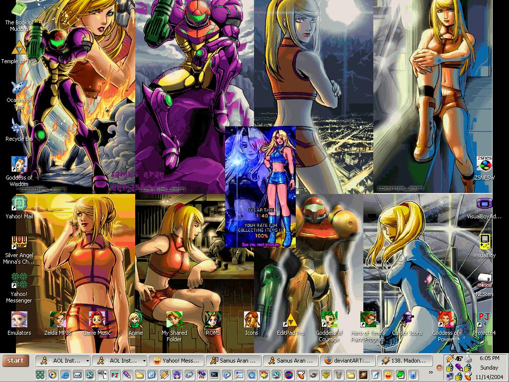 Samus Aran desktop by SailorVFan10