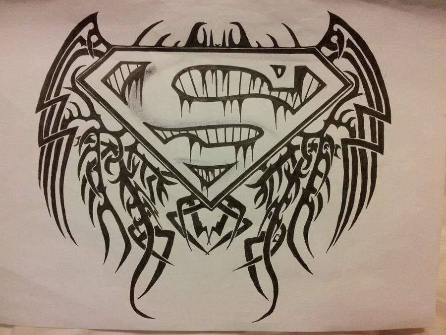 Tribal Superman Logo